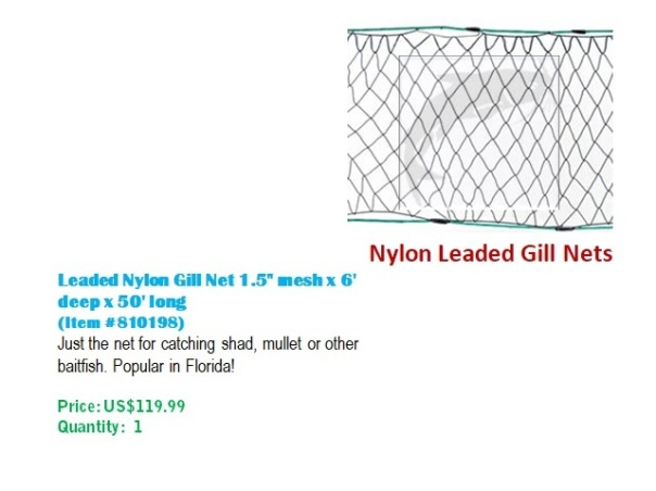Nylon Leaded Gill Nets